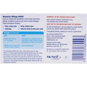 Benadryl Allergy Relief Capsules