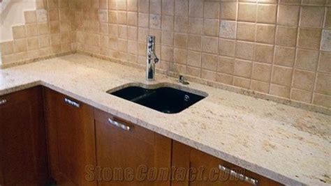 Colonial Cream Granite Kitchen Countertop, Yellow Granite