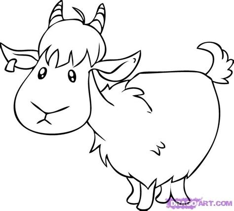 draw  cartoon goat step  step farm animals