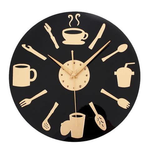 coffee time wall clock modern design decorative kitchen
