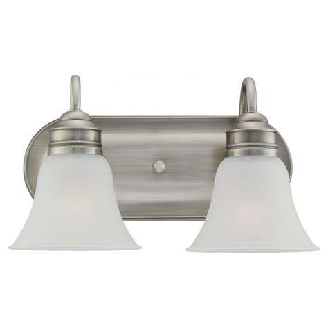 sea gull lighting gladstone 2 light antique brushed nickel