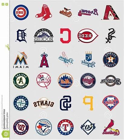 Baseball League Vector Logos Major Teams National