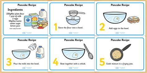 pancake recipe sheets  measurements pancakes