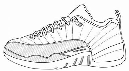 Jordan Templates Coloring Drawing Air Shoe Nike