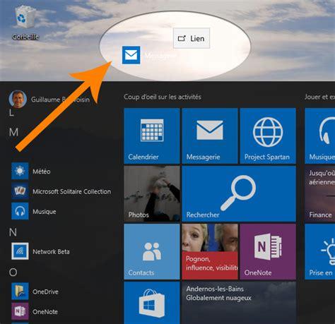 windows 10 cr 233 er un raccourci vers une application sur