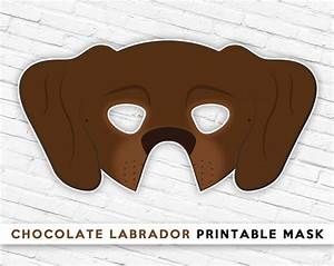 Chocolate Labrador Mask Brown Dog Mask Printable Halloween