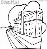 Hospital Coloring Building Pages Printable Getcolorings Getdrawings Hospital1 sketch template