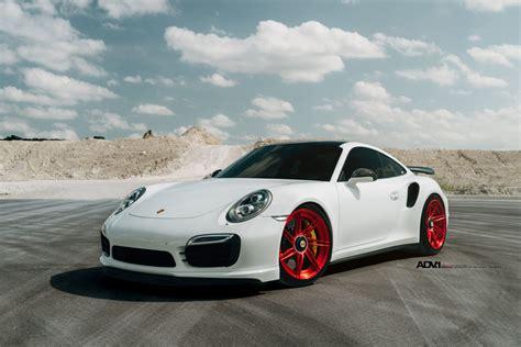 white porsche white porsche 911 turbo s adv07r m v2 cs series