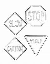 Coloring Road Signs Pages Sign Printable Traffic Stop Sheets Sheet Keep Colouring Drawing Print Yield Crossing Light Getcolorings Roadsigns Getcoloringpages sketch template