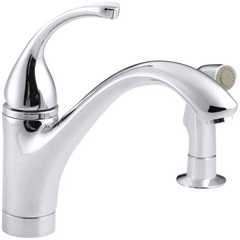 single handle kitchen faucet with side spray danze opulence single handle standard kitchen faucet with