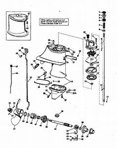 Johnson Gearcase Parts For 1972 6hp 6r72d Outboard Motor