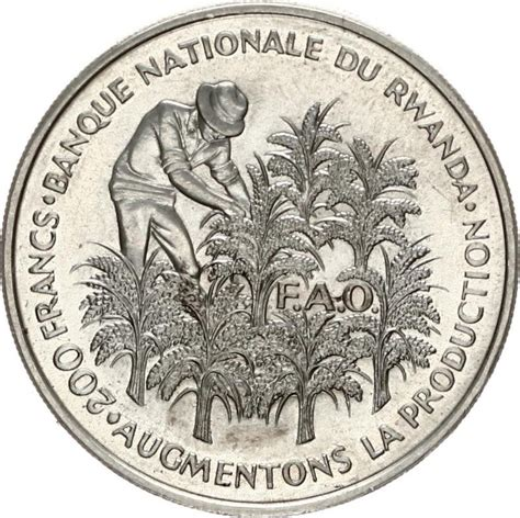 This exceptional coffee was selected as the no. Rwanda, Republic, 200 Francs Silver 1972 F.A.O. Picking Coffee beans, KM 11, UNC - The Coinhouse ...