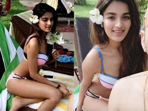 Nidhi Agarwal In Two Piece Bikini