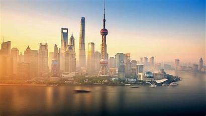 Shanghai China 4k Wallpapers Backgrounds Skyscrapers River