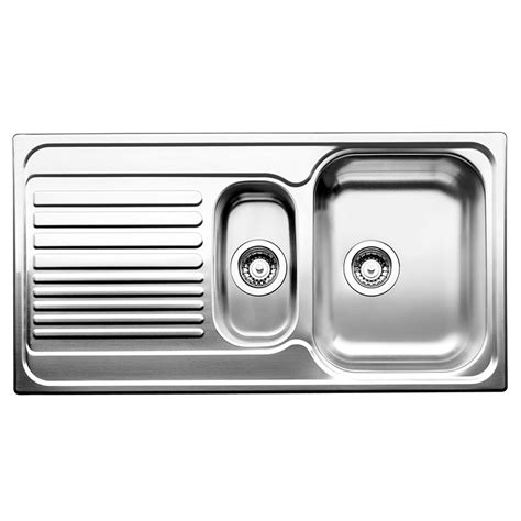 kitchen sink bunnings blanco inset sink right bowl with drainer 2597
