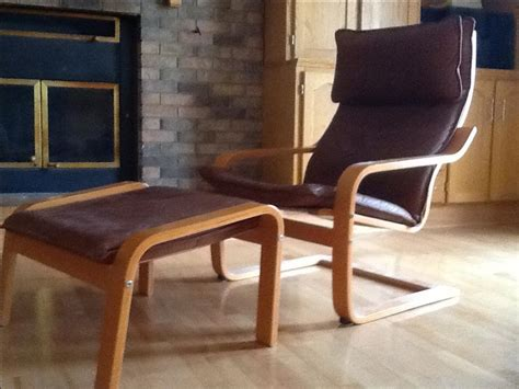 Leather Ikea Poang Chair With Footstool East Regina, Regina
