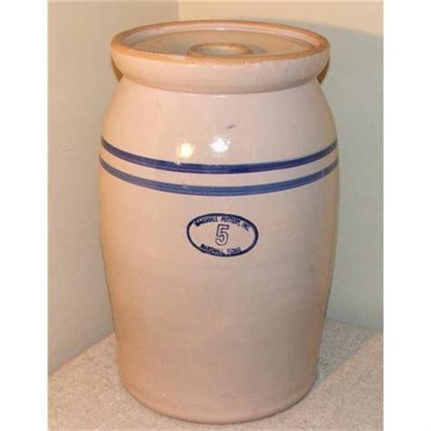 Vintage Marshall Pottery 5 Gallon Butter Churn #2379979