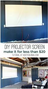 diy projector screen for less than 20 a craft in