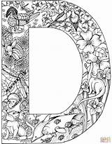 Coloring Letter Pages Adult Letters Printable Alphabet Colouring Animals Animal Supercoloring Books Sheets Clipart Sheet Drawing Library Popular Azcoloring English sketch template