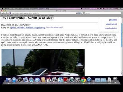 craigslist minnesota  cars  sale  owner youtube