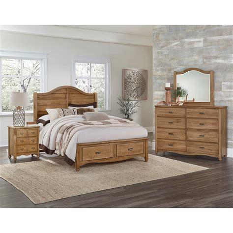american maple vaughan bassett american maple queen bedroom group