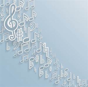 Elegant music note background vector set Free vector in ...