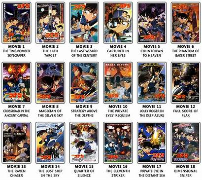 Detective Conan Movie Movies Film Sniper Dimensional