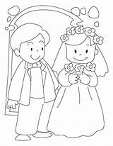 Groom Coloring Bride Pages Printable Sheets Pdf Table Activity Colouring sketch template