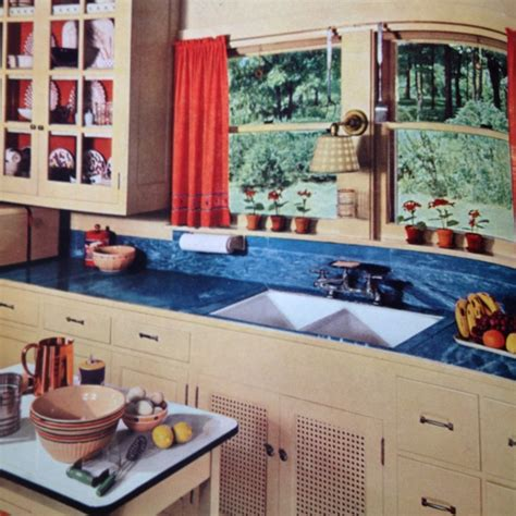 retro kitchen flooring best 73 1930s kitchens images on home decor 1936