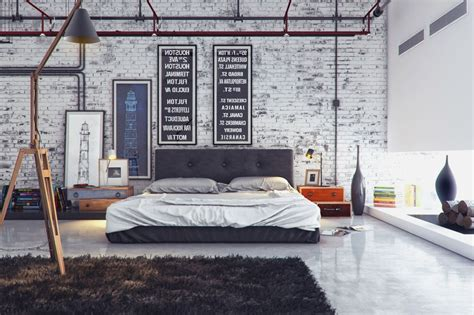 19 Bedrooms With Neutral Palettes by Industrial Room 7 C 225 Ch Kết Hợp Phong C 225 Ch C 244 Ng Nghiệp