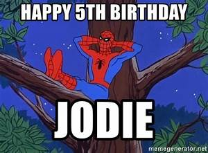 Happy 5th Birthday Jodie - Spiderman Tree | Meme Generator