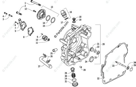 Arctic Cat Atv Oem Parts Diagram For Crankcase Cover