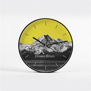Unique, Cheap, Wall, Clocks, Round, Metal, Glass, 12, Inch, Colorful, Analog