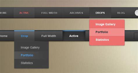 psd web menu bars vol psd web elements pixeden