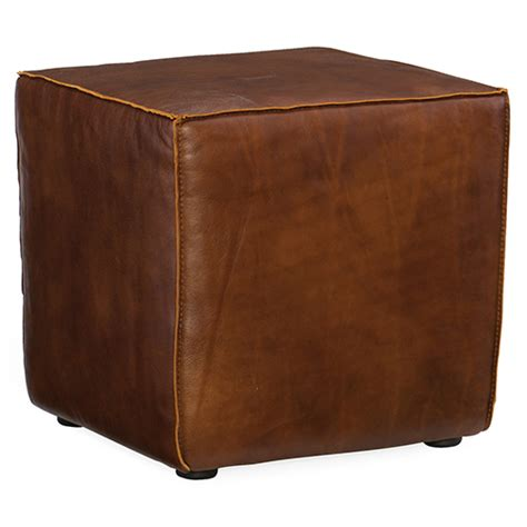 Cube Leather Ottoman by Ottomans Footstools Poufs Bellacor