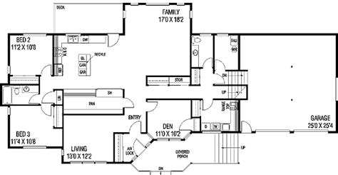 tri level floor plans contemporary tri level home 7896ld 2nd floor master suite butler walk in pantry