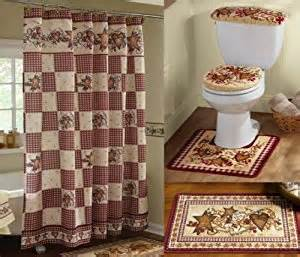 hearts and kitchen collection amazon com knlstore country primitive hearts and bathroom decor set shower curtain floor