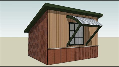 draw corrugated metal   curved awning roof youtube