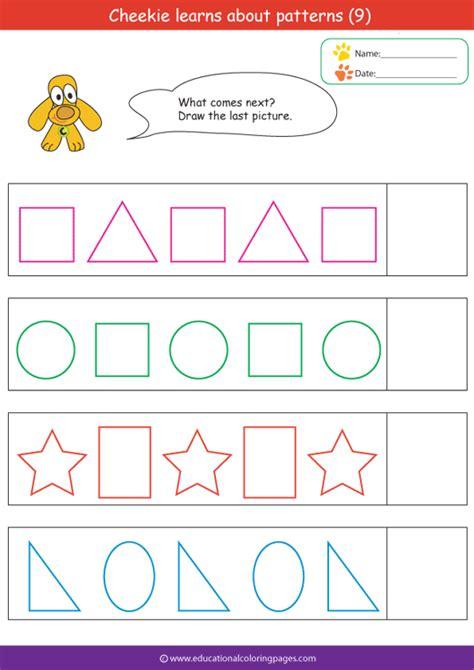 Pattern Activities For Kindergarten Worksheets Homeshealthinfo