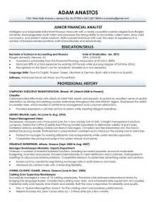Masters Resume Format by Resume Sle For Fresh Graduate Jennywashere