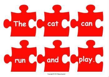 jigsaw sentences literacy center building reading
