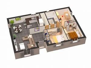 Plan Maison Plain Pied 3d Gratuit
