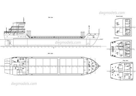 cargo ship free autocad file cad drawings