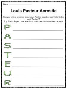 Louis Pasteur Facts, Worksheets & Science History For Kids