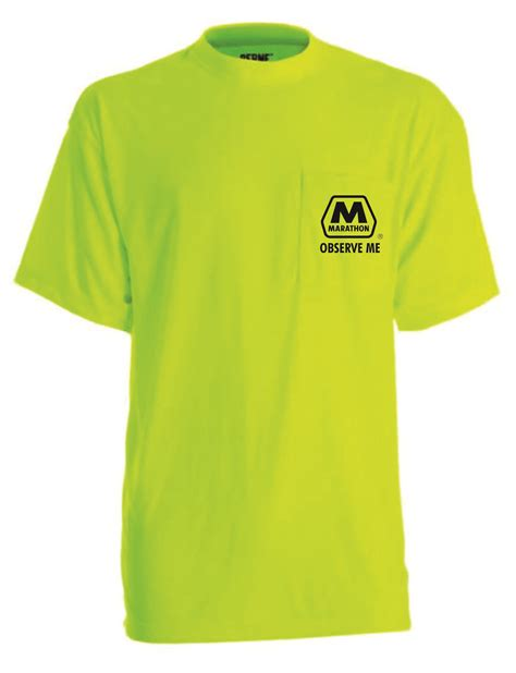 Tshirt Template For Logo Pocket by Safety Yellow Pocket Tee Shirt Front Left Chest Logo