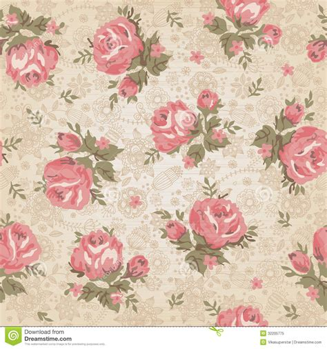 Vintage Seamless Floral Pattern Royalty Free Stock Photo ...