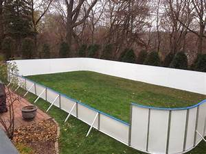 Backyard Rink With Boards Outdoor Furniture Design And Ideas