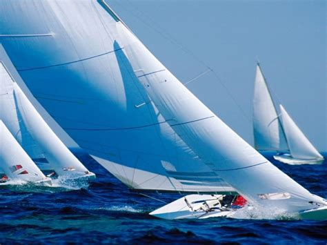 Sailing Boat Competition by Catching The Wind Blue Competition Ocean Racing