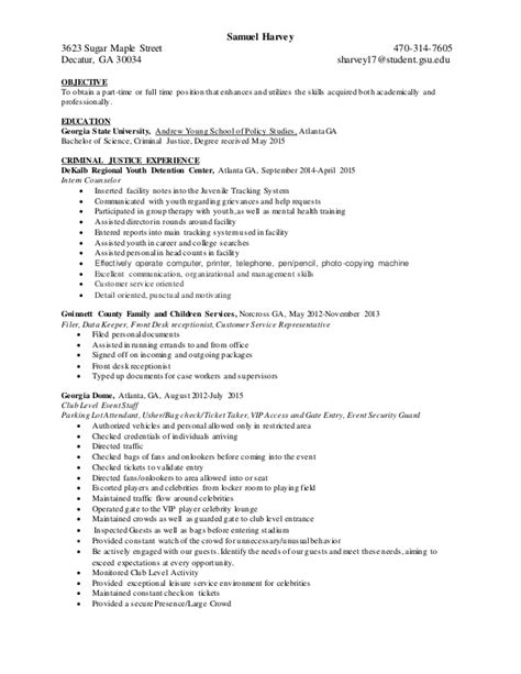 general resume 187 criminal justice resume cover letter