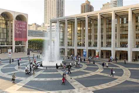 On The Steps Of Lincoln Center A Choir The Size Of An
